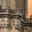 Incendie de la cathédrale Notre-Dame de Paris, le 15 avril 2019. © Stéphane Lemouton/Bestimage