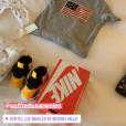 Nabilla découvre des cadeaux de la part du Sofitel Beverly Hills, le 15 avril 2019 en Californie.