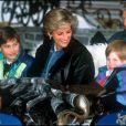 ARCHIVES - LA PRINCESSE LADY DIANA D' ANGLETERRE ET SES FILS LES PRINCE HARRY ET WILLIAM EN VACANCES A LECH EN 1993.