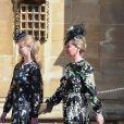 Louise Mountbatten-Windsor (Lady Louise Windsor) et Sophie Rhys-Jones, comtesse de Wessex, arrivent pour assister à la messe de Pâques à la chapelle Saint-Georges du château de Windsor, le 20 avril 2019.