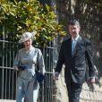 La princesse Anne et Sir Timothy Laurence arrivent pour assister à la messe de Pâques à la chapelle Saint-Georges du château de Windsor, le 20 avril 2019.
