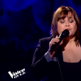 "Virginie dans ""The Voice 8"" sur TF1, le 27 avril 2019."