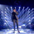 "Loris dans ""The Voice 8"" sur TF1, le 27 avril 2019."