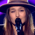"Laureen dans ""The Voice 8"" sur TF1, le 27 avril 2019."