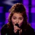 """Ava Baya dans """"The Voice 8"""" sur TF1, le 27 avril 2019."""