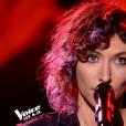 """Camille Hardouin dans """"The Voice 8"""" sur TF1, le 27 avril 2019."""