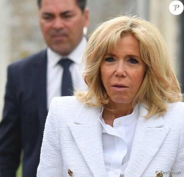 Brigitte Macron - Visite de Giverny. Le 23 avril 2019 © Christian Liewig / Pool / Bestimage