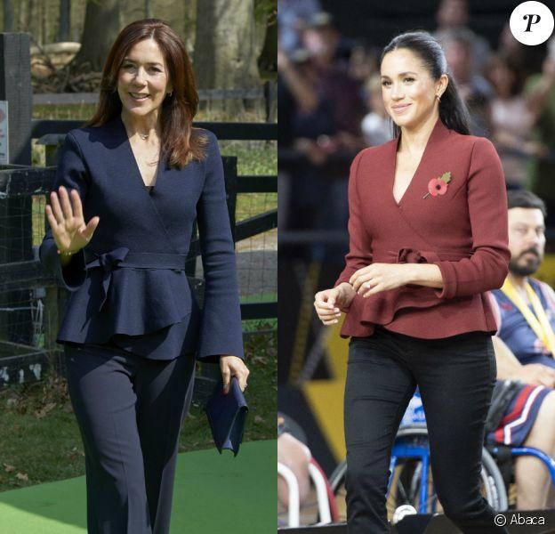 La princesse Mary du Danemark et Meghan Markle, duchesse de Cambridge, ont craqué pour la même veste !