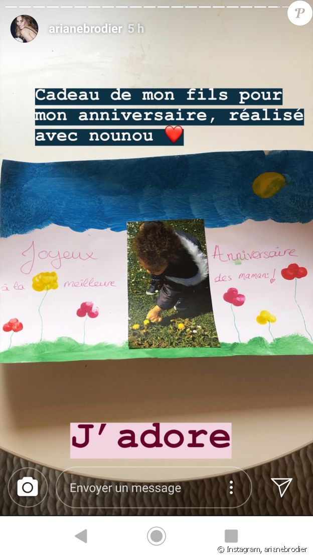 Ariane Brodier se confie sur son acouchement et sa fille - Instagram, 27 avril 2019