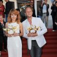 Emilie Dequenne et Benoît Poelvoorde à la cérémonie de clôture du 23 e Festival du film romantique de Cabourg