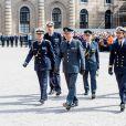 Le roi Carl XVI Gustaf de Suède sur le parvis du palais royal à Stockholm lors des célébrations de son 73e anniversaire, le 30 avril 2019.