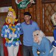 Anthony Delon et sa fille, et Paul Belmondo, fêtent les 20 ans du Parc Astérix