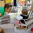 Exclusif - Laura Tenoudji Estrosi et sa fille Bianca - Christian Estrosi, le maire de Nice, et sa femme Laura Tenoudji ont fêté en famille le 1er mai dans les jardins de Cimiez pour la Fête des Mai à Nice, le 1er mai 2019. © Bruno Bebert/Bestimage
