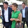 Exclusif - Christian Estrosi, le maire de Nice, et sa femme Laura Tenoudji - Christian Estrosi, le maire de Nice, et sa femme Laura Tenoudji ont fêté en famille le 1er mai dans les jardins de Cimiez pour la Fête des Mai à Nice, le 1er mai 2019. © Bruno Bebert/Bestimage