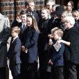 Le prince héritier Frederik de Danemark, la princesse Mary et leurs enfants le prince Christian, la princesse Isabella, le prince Vincent et la princesse Josephine ont assisté le 4 mai 2019 à la cathédrale d'Aarhus aux obsèques de trois des quatre enfants - Alfred, Alma et Agnes - de l'homme d'affaires danois Anders Holch Povlsen, tués à Colombo au Sri Lanka dans les attentats du 21 avril 2019.