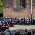 Anders Holch Povlsen et sa femme Anne, avec leur fille Astrid, ont assisté le 4 mai 2019 à la cathédrale d'Aarhus aux obsèques de trois de leurs quatre enfants - Alfred, Alma et Agnes -, tués à Colombo au Sri Lanka dans les attentats du 21 avril 2019.