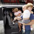 Britney Spears et ses fils Sean Preston et Jayden James vont dans un magasin de jouets, à Londres le 15 juin 2009