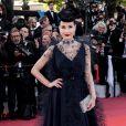 """Dita Von Teeseassiste à la montée des marches du film """"Rocketman"""" lors du 72ème Festival International du Film de Cannes. Le 16 mai 2019 © Jacovides-Moreau / Bestimage"""
