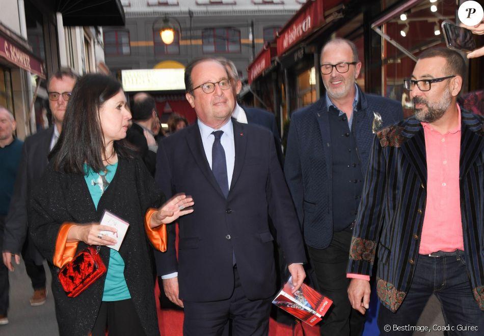 """Exclusif - Katherine Pradeau et François Hollande Vernissage """"Un Marchand Un Artiste à Biron, à Dauphine !"""" aux Puces de Paris Saint-Ouen le 16 mai 2019. © Coadic Guirec/Bestimage"""