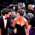 """Jeremy Lewin, Mélanie Doutey, Lucie Digout assistent à la montée des marches du film """"La belle époque"""" lors du 72ème Festival International du Film de Cannes. Le 20 mai 2019 © Jacovides-Moreau / Bestimage"""