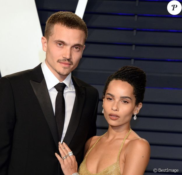 Zoë Kravitz et son fiancé Karl Glusman - Soirée Vanity Fair Oscar Party à Los Angeles. Le 24 février 2019