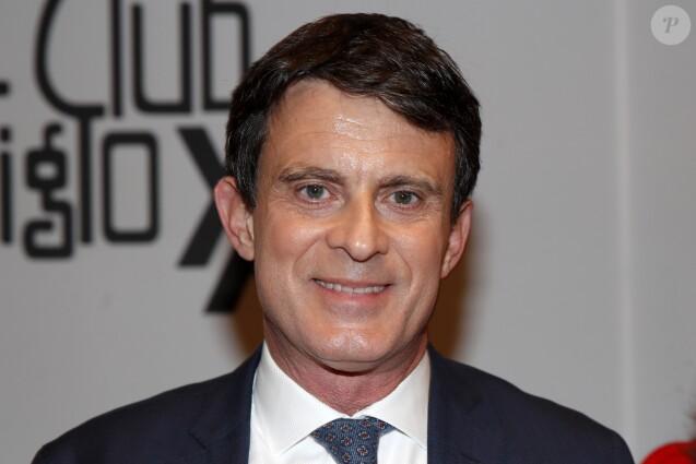 Manuel Valls lors d'une conférence au club SXXI à Madrid le 21 février 2019.