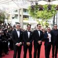 "Andre Lotterer, guest, Sam Bird, Leonardo DiCaprio, Orlando Bloom, Nelson Piquet Jr, Malcolm Venville, Alejandro Agag, Jean-Eric Vergne - Montée des marches du film ""Le Traitre (Il Traditore)"" lors du 72ème Festival International du Film de Cannes. Le 22 mai 2019 © Jacovides-Moreau / Bestimage  Red carpet for the movie ""The Traitor"" during the 72nd Cannes International Film festival. On may 22nd 201923/05/2019 -"