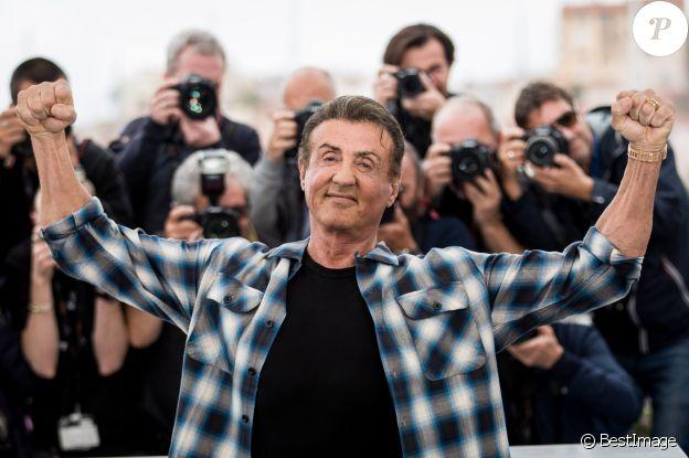 """Sylvester Stallone au photocall du film """"Rambo V: Last Blood"""" lors du 72ème Festival International du film de Cannes, France, le 24 mai 2019. © Jacovides-Moreau/Bestimage"""