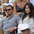 Brahim Asloum - People dans les tribunes des Internationaux de France de Tennis de Roland Garros à Paris le 2 juin 2018. © Dominique Jacovides-Cyril Moreau / Bestimage
