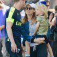 Exclusif - Jamie Bell, son fils et sa femme Kate Mara sont allés déjeuner au restaurant à Los Angeles, le 11 juin 2018