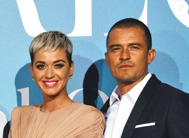 "Fiançailles - Katy Perry et Orlando Bloom se sont fiancés - Orlando Bloom et sa compagne Katy Perry lors de la 2ème édition du ""Monte-Carlo Gala for the Global Ocean"" à l'opéra de Monte-Carlo à Monaco, le 26 septembre 2018. © Bruno Bébert/Bestimage"