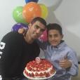 José Antonio Reyes et son fils José pour son 9e anniversaire en octobre 2016. Le footballeur espagnol est mort dans un accident de voiture le 1er juin 2019 près de Séville.