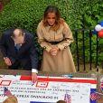 Melania Trump et Philip May lors d'une Garden Party au 10 Downing Street à Londres. Le 4 juin 2019