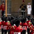 Melania Trump, la reine Elisabeth II d'Angleterre, Donald Trump, le prince Charles, Camilla Parker Bowles, duchesse de Cornouailles - Le président des Etats-Unis et sa femme accueillis au palais de Buckingham à Londres. Le 3 juin 2019