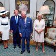 Donald Trump et sa femme Melania ont été reçus à la Clarence House par le prince Charles et Camilla Parker Bowles, duchesse de Cornouailles, à Londres. Le 3 juin 2019