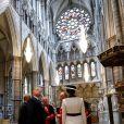 Donald Trump et sa femme Melania visitent l'abbaye de Westminster à Londres. Le 3 juin 2019