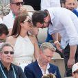 Exclusif - Le prince Félix de Luxembourg et la princesse Claire de Luxembourg dans les tribunes lors des internationaux de tennis de Roland Garros à Paris, France, le 4 juin 2019. © Jacovides-Moreau/Bestimage