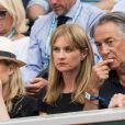Richard Berry et sa femme Pascale Louange dans les tribunes lors des internationaux de tennis de Roland Garros à Paris, France, le 4 juin 2019. © Jacovides-Moreau/Bestimage