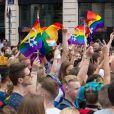 Image du défilé de la Gay Pride à Lille, le 3 juin 2017. © Stéphane Vansteenkiste/Bestimage