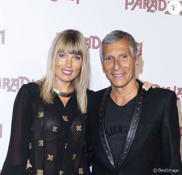 """Nagui et sa femme Mélanie Page - Photocall de la générale """"L'Oiseau Paradis"""" au Paradis Latin à Paris le 6 juin 2019. © Olivier Borde/Bestimage06/06/2019 - Paris"""