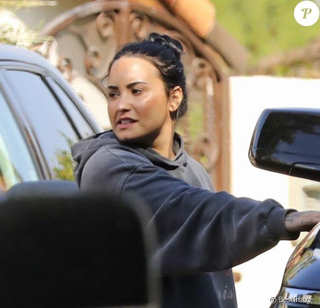 Exclusif - Demi Lovato à la sortie de son cours de gym à Los Angeles, le 28 février 2019
