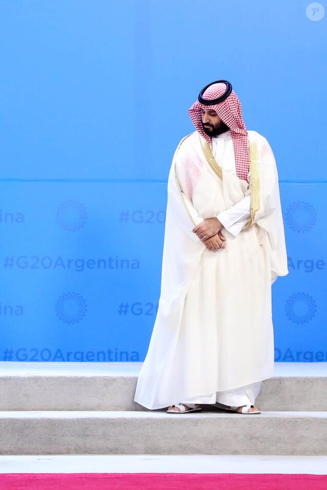 Mohammed ben Salmane, prince héritier d'Arabie Saoudite, - Photo de famille des participants au sommet du G20 à Buenos Aires le 30 novembre 2018. © Stéphane Lemouton / Bestimage