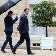Christophe Castaner, ministre de l'Intérieur à la sortie du conseil des ministres du 12 juin 2019, au palais de l'Elysée à Paris. © Stéphane Lemouton / Bestimage