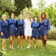 Caroline Wozniacki entourée de ses demoiselles d'honneur, dont Serena Williams, lors de son mariage avec David Lee célébré le 15 juin 2019 en Toscane.