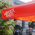 Ambiance - Soirée Spritz Piazza à l'occasion des 100 ans de la marque Aperol à la rotonde Stalingrad à Paris le 18 juin 2019. © Christophe Clovis / Bestimage