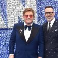 "Sir Elton John, son mari David Furnish à la première du film ""Rocketman"" au cinéma Odeon Leicester Square à Londres, Royaume Uni, le 20 mai 2019."