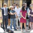 Katie Holmes et Tom Cruise lors de l'inaugration de l'étoile de Cameron Diaz sur le Walk of Fame à Hollywood le 22 juin 2009 : comme des anonymes...