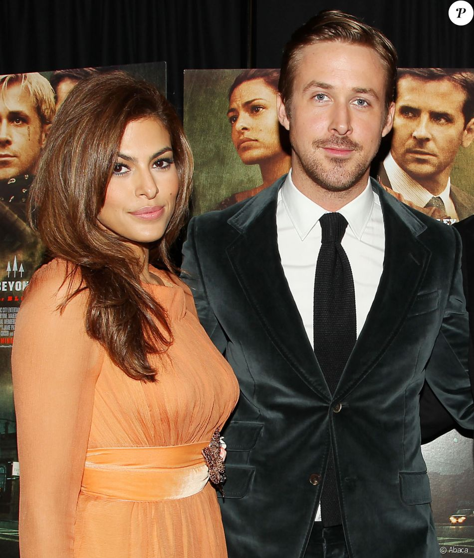 Eva Mendes, Ryan Gosling à New York le 28 mars 2013.
