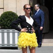 Céline Dion : Sensationnelle en minijupe en plumes !