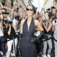 Céline Dion arrive au Pavillon Cambon pour assister au défilé Schiaparelli haute couture Automne-Hiver 2019/2020 à Paris le 1er juillet 2019. © Veeren Ramsamy-Christophe Clovis/Bestimage